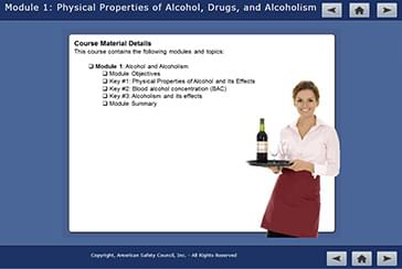 Basset Alcohol Online Course Screenshots